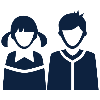 Icon of female and male students