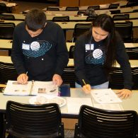 University of Connecticut Early College Experience (UConn ECE) Concurrent Enrollment - two students revising their lab report