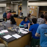 University of Connecticut Early College Experience (UConn ECE) Concurrent Enrollment - students in a science lab