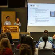 University of Connecticut Early College Experience (UConn ECE) Concurrent Enrollment - Two students presenting at the Marine Science Symposium