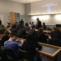 University of Connecticut Early College Experience (UConn ECE) Concurrent Enrollment – students listening to a presentation