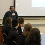 University of Connecticut Early College Experience (UConn ECE) Concurrent Enrollment - Faculty Coordinator giving a presentation to students