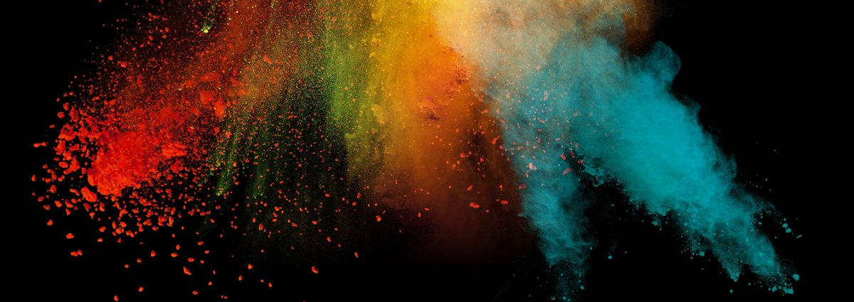 Colorful paint burst