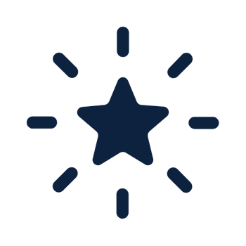 Icon of star with burst effect