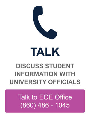 Discuss student information with University officials