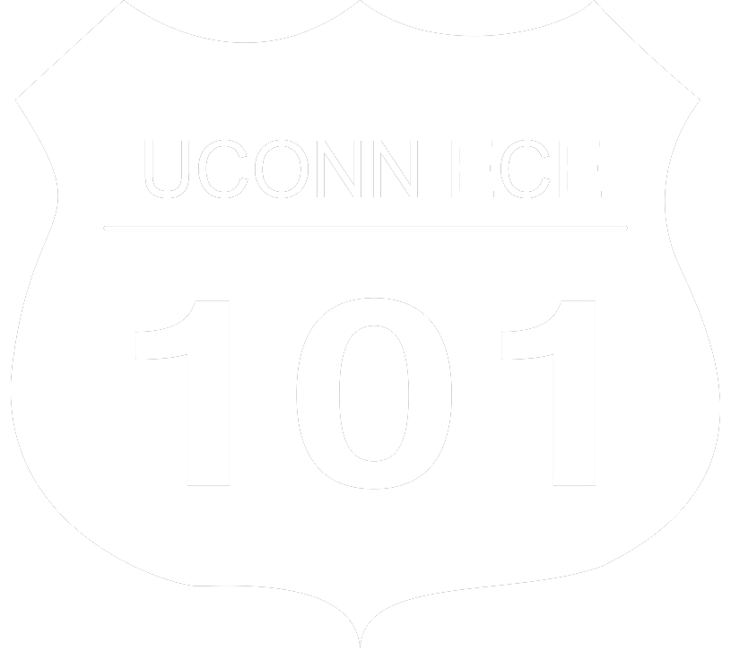 Icon of highway sign with uconn ece 101